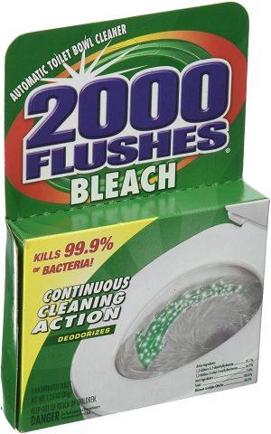 2000 Flushes Bleach Toilet Bowl Cleaner