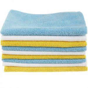 AmazonBasics Pack of 24 Microfiber Cleaning Cloth Best Microfiber Cloth