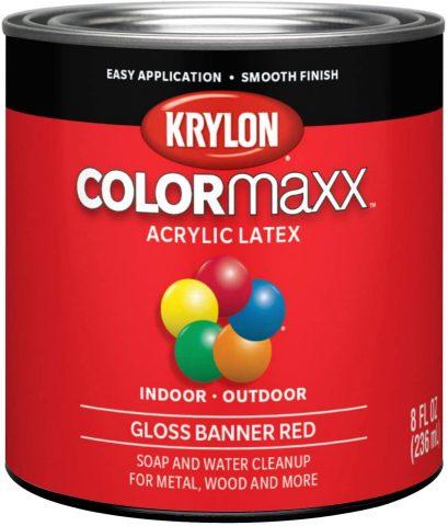 Banner Red - Krylon K05633007 ColorMaxx Brush On Paint