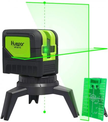 Huepar 9211G Cross Line Laser Level
