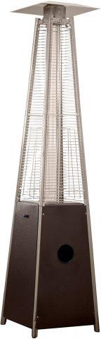 Hiland Pyramid Patio Propane Heater with Wheels