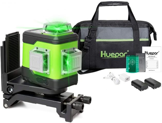 Huepar 3D Cross Line Self-Leveling Laser Level
