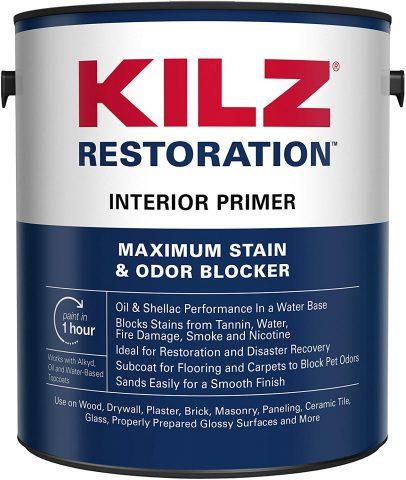 Kilz Restoration Maximum Stain and Odor Blocking Interior Latex Primer - White