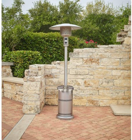 Mosaic Stainless Steel Patio Heater with Table