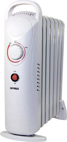 Optimus H-6003 Portable Oil Filled Radiator Heater - Mini