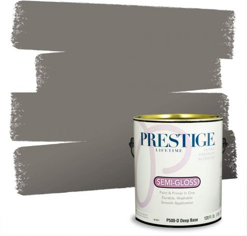 PRESTIGE Interior Paint And Primer In One, Mountain Gray