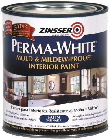 Zinsser - Perma-White - Mold & Mildew-Proof Satin Interior Paint